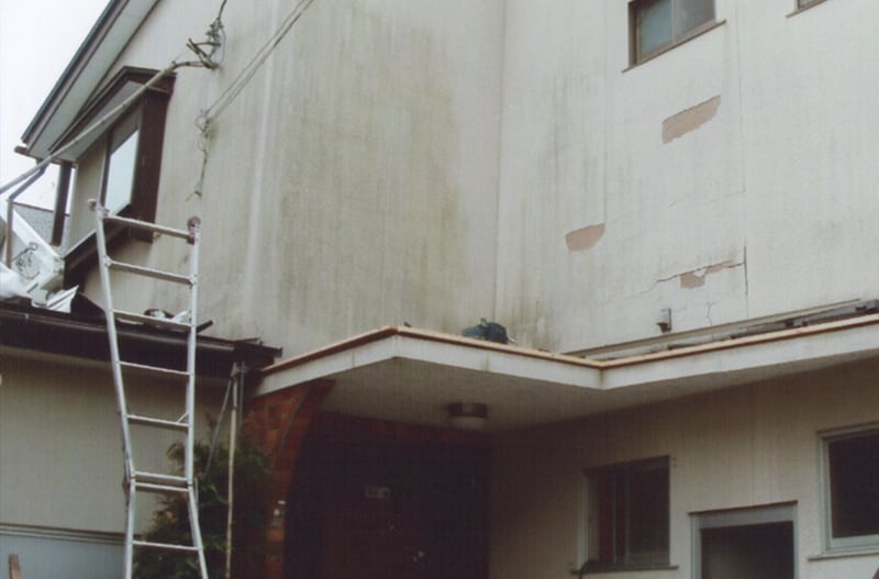 仙台市の菊地板金工業の外壁工事の工事前
